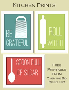 Kitchen wall printables
